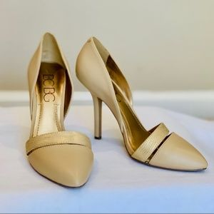 💋BCBG Beige classic yet modern pumps